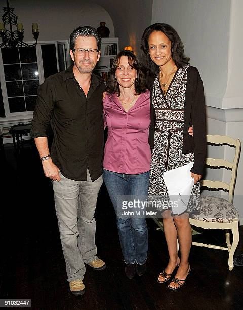 Actors Charles Shaughnessy Susan Shaughnessy and AnneMarie Johnson attend the Membership First Fundraiser at a private residence on September 22 2009...