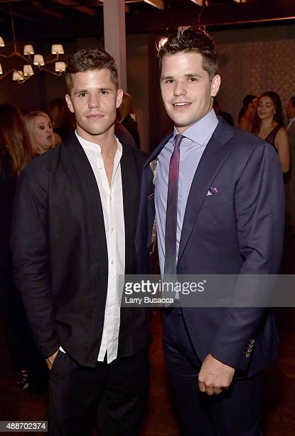 Actors Charlie Carver and Max Carver attend PEOPLE's Ones To Watch Event on September 16 2015 in West Hollywood California
