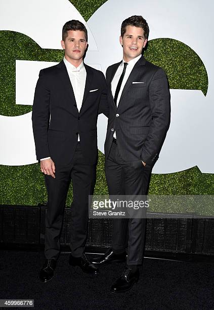 Actors Charlie Carver and Max Carver attend the 2014 GQ Men Of The Year party at Chateau Marmont on December 4 2014 in Los Angeles California