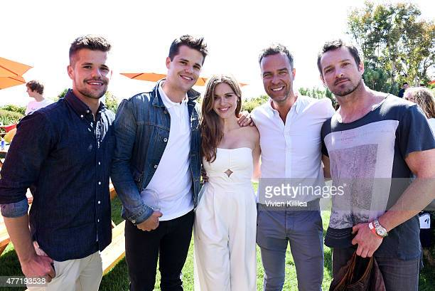 Actors Charlie Carver Max Carver Holland Roden Ian Bohen and JR Bourne attend Children Mending Hearts 7th Annual Fundraiser Presented By Material...