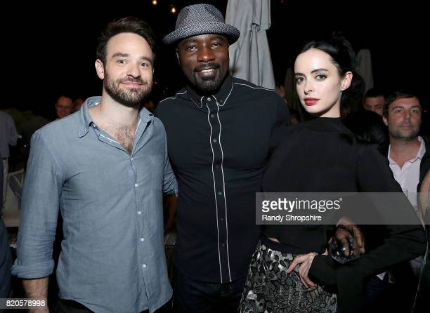 Actors Charlie Cox Mike Colter and Krysten Ritter attend the Entertainment Weekly and Marvel After Dark event at the EW Studio during ComicCon at...