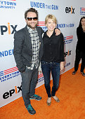 Actors Charlie Day and Mary Elizabeth Ellis attend the 'Under The Gun' LA premiere featuring Katie Couric and Stephanie Soechtig at Samuel Goldwyn...