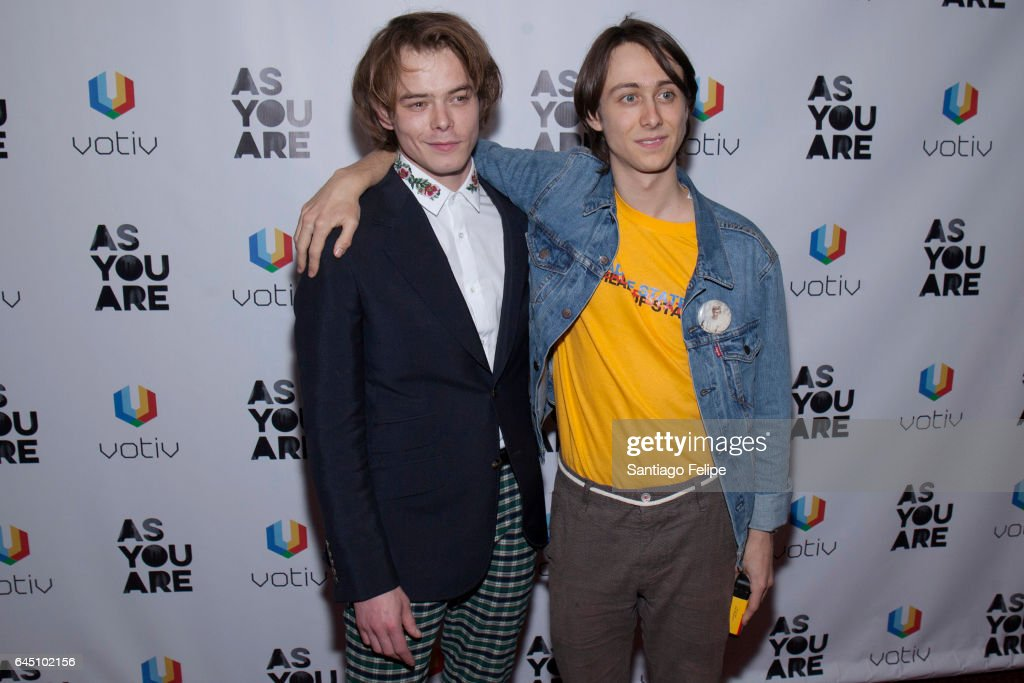 Actors Charlie Heaton and Owen Campbell attend 'As You Are' New York Premiere at Village East Cinema on February 24, 2017 in New York City.