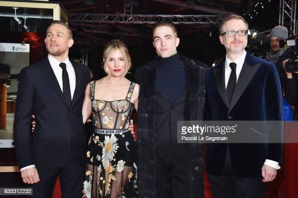 Actors Charlie Hunnam wearing Prada Sienna Miller wearing Dior Robert Pattinson and Director James Gray attend the 'The Lost City of Z' premiere...