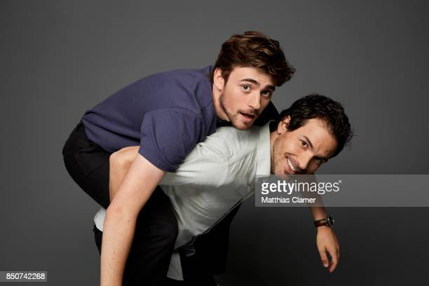 Actors Charlie Rowe and Santiago Cabrera from Salvation are photographed for Entertainment Weekly Magazine on July 22 2017 at Comic Con in San Diego...