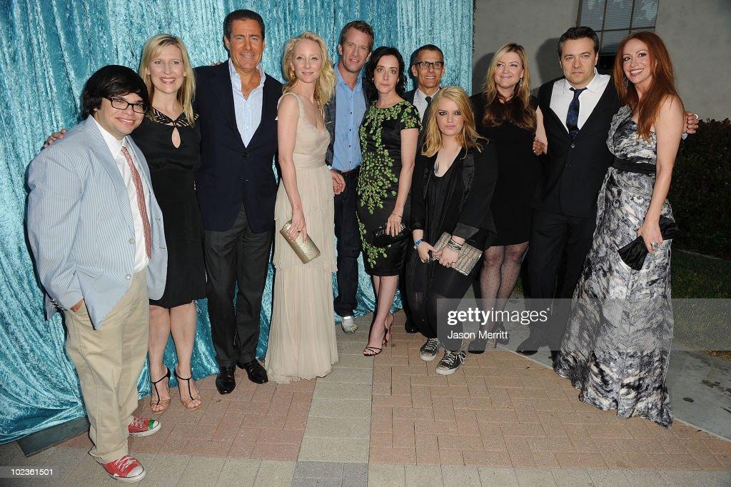 Actors Charlie Saxton President HBO Entertainment Sue Naegle HBO Copresident Richard Plepler actors Anne Heche Thomas Jane Jane Adams Sianoa...