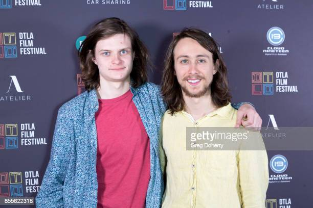 Actors Charlie Tahan and Owen Campbell arrive for the DTLA Film Festival Premiere Of The Orchard's 'Super Dark Times' at Regal 14 at LA Live Downtown...