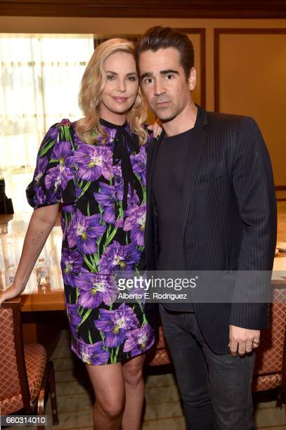 Actors Charlize Theron and Colin Farrell at CinemaCon 2017 Focus Features Celebrating 15 Years and a Bright Future at Caesars Palace during CinemaCon...