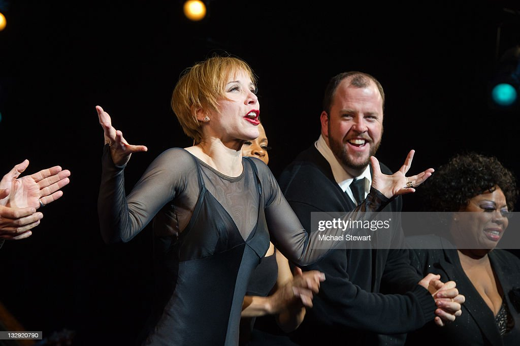 Actors Charlotte d'Amboise Chris Sullivan and Carol Woods attend the 'Chicago' 15th Anniversary celebration performance at the Ambassador Theatre on...