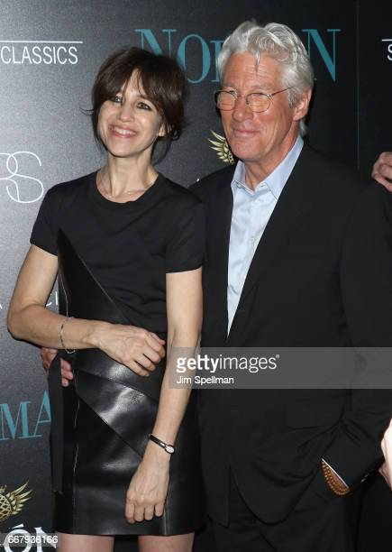 Actors Charlotte Gainsbourg and Richard Gere attend the screening of Sony Pictures Classics' 'Norman' hosted by The Cinema Society with NARS AVION at...