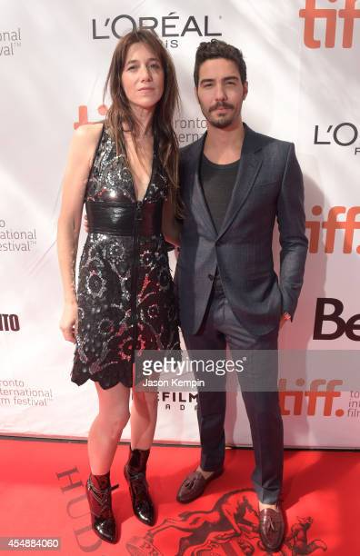 Actors Charlotte Gainsbourg and Tahar Rahim attend the 'Samba' premiere during the 2014 Toronto International Film Festival at Roy Thomson Hall on...