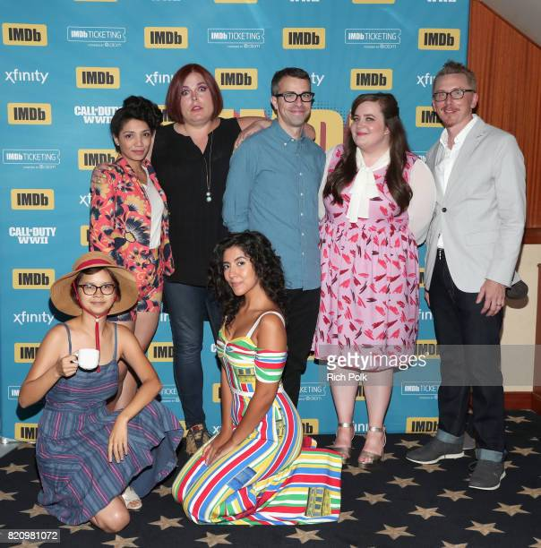 Actors Charlyne Yi Jasika Nicole producer Shadi Petoksy actors Kat Micucci Erick Knobel Aidy Bryant and producer Mike Owens on the #IMDboat at San...