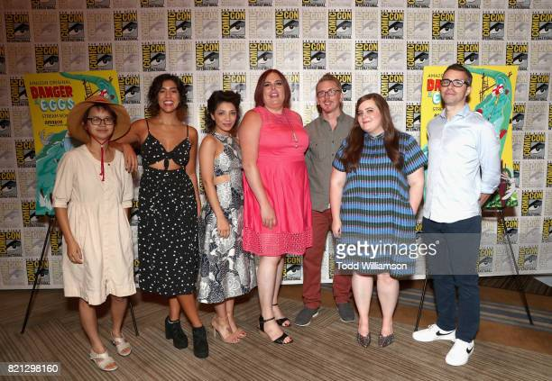 Actors Charlyne Yi Stephanie Beatriz and Jasika Nicole Cocreator/comic strip author Shadi Petosky cocreator Mike Owens and actors Aidy Bryant and...