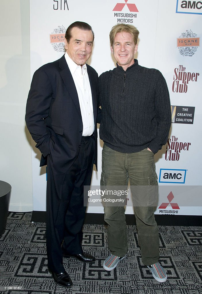 Actors Chaz Palminteri and Matthew Modine attend The Creative Coalition and AMC Host a Dinner Party in Honor of Matthew Modine and Chaz Palminteri...
