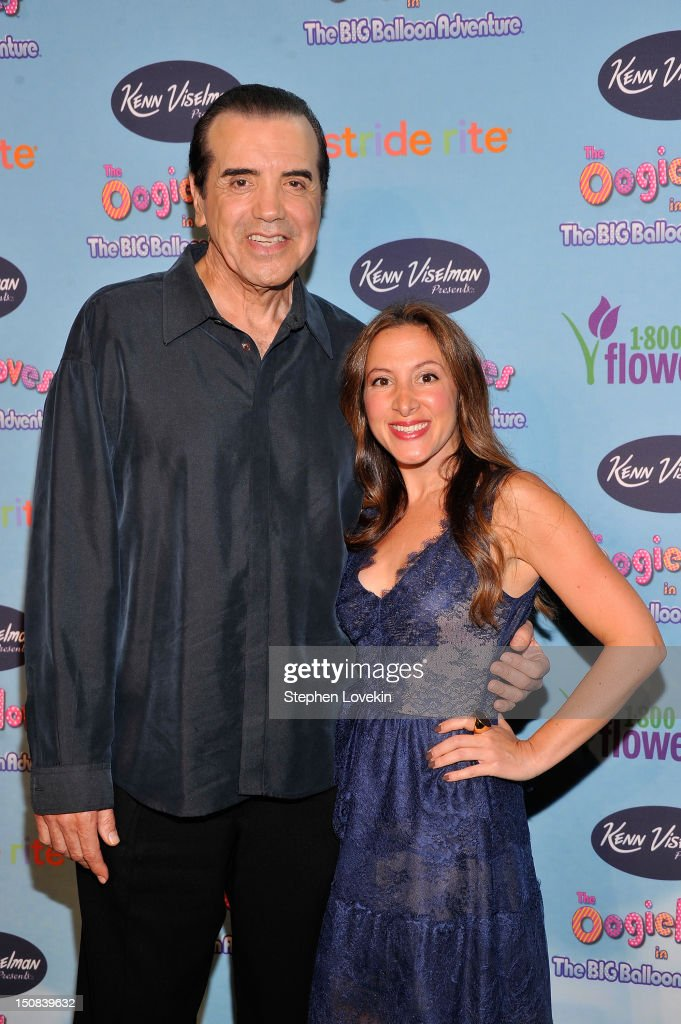 Actors Chazz Palminteri and Guistina Chirco attend the 'The Oogieloves in the Big Balloon Adventure' premiere at Alice Tully Hall Lincoln Center on...