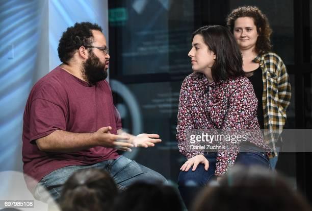 Actors Chelsea Clarke Zach Cherry and Abra Tabak members of the Upright Citizens Brigade Theatre visit Build to discuss 'The Del Close Marathon' at...