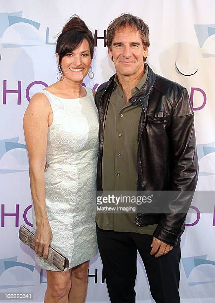 Actors Chelsea Field and Scott Bakula arrive at the Hollywood Bowl Opening Night Gala held at the Hollywood Bowl on June 19 2009 in Hollywood...