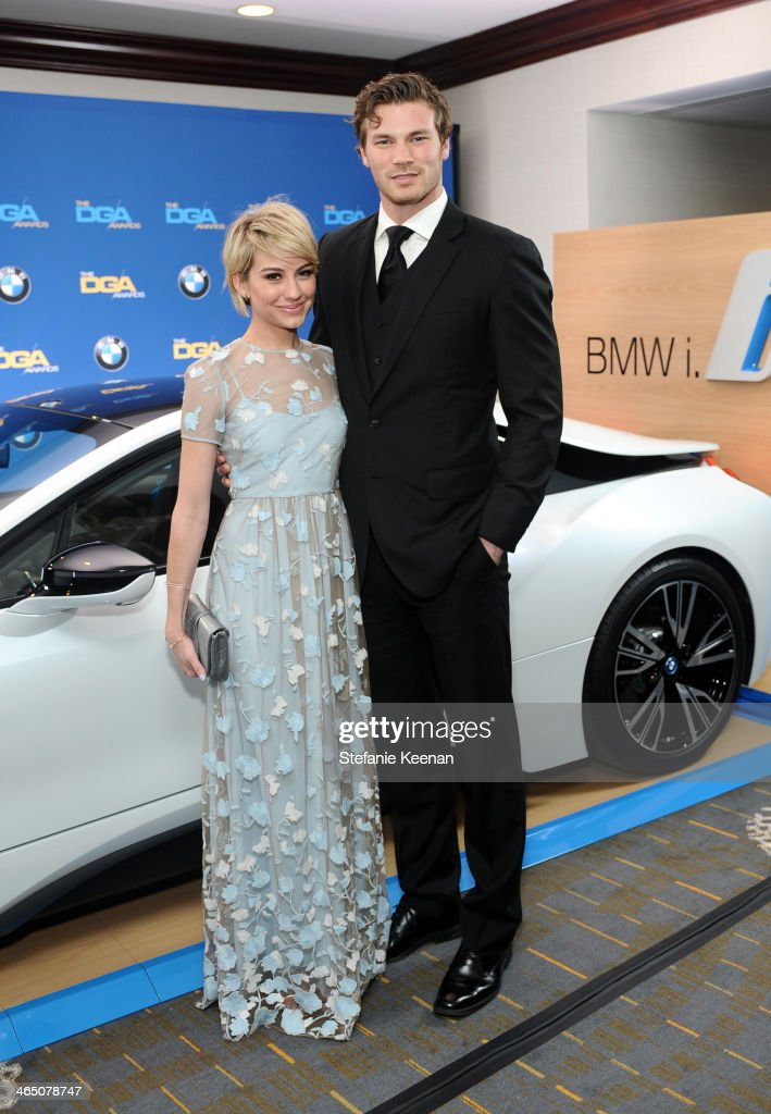 Actors Chelsea Kane and Derek Theler attend the 66th Annual Directors Guild Of America Awards held at the Hyatt Regency Century Plaza on January 25, 2014 in Century City, California.