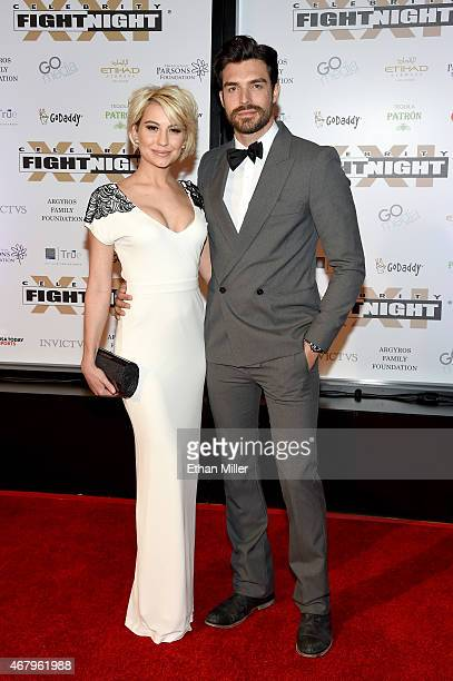 Actors Chelsea Kane and Peter Porte attend Muhammad Ali's Celebrity Fight Night XXI at the JW Marriott Phoenix Desert Ridge Resort Spa on March 28...