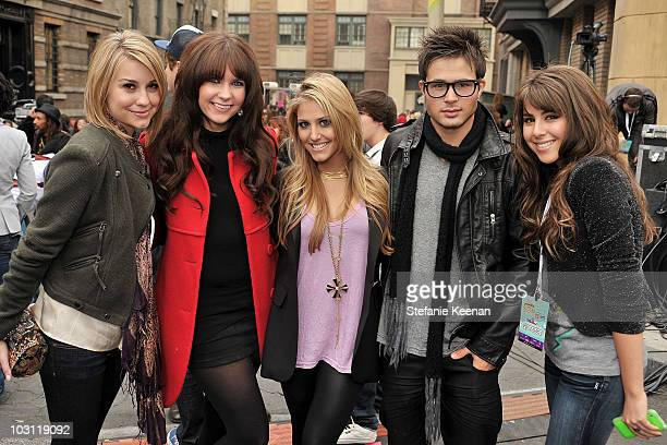 Actors Chelsea Staub Kristy Frank Cassie Scerbo Cody Longo and Daniella Monet attends Variety's 3rd annual 'Power of Youth' event held at Paramount...