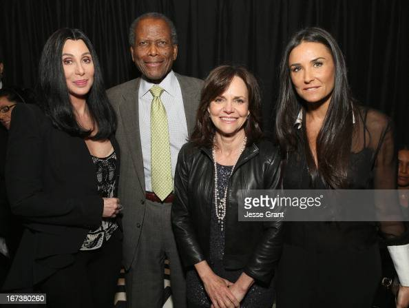 Actors Cher Sidney Poitier Sally Field and Demi Moore attend Target Presents AFI's Night at the Movies at ArcLight Cinemas on April 24 2013 in...