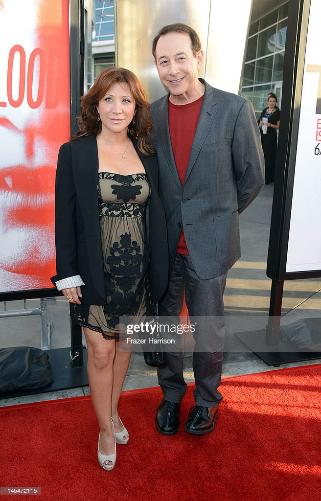 Actors Cheri Oteri and Paul Reubens arrives Premiere Of HBO's 'True Blood' 5th Season at ArcLight Cinemas Cinerama Dome on May 30 2012 in Hollywood...