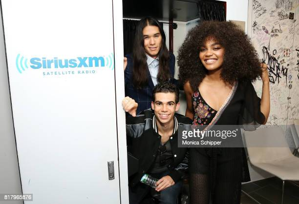 Actors China Anne McClain Cameron Boyce and Booboo Stewart visit SiriusXM Studios on July 18 2017 in New York City