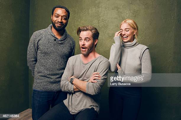 Actors Chiwetel Ejiofor Chris Pine and Margot Robbie from 'Z for Zachariah' pose for a portrait at the Village at the Lift Presented by McDonald's...
