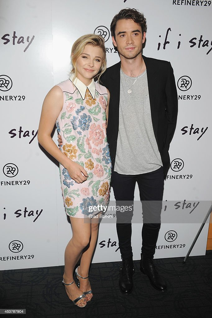 Actors Chloë Grace Moretz and Jamie Blackley attend the 'If I Stay' New York Premiere at Landmark's Sunshine Cinema on August 18, 2014 in New York City.