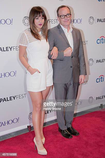 Actors Chloe Bennet and Clark Gregg attend the 2nd annual Paleyfest New York Presents 'Marvel Agents Of SHIELD' at Paley Center For Media on October...