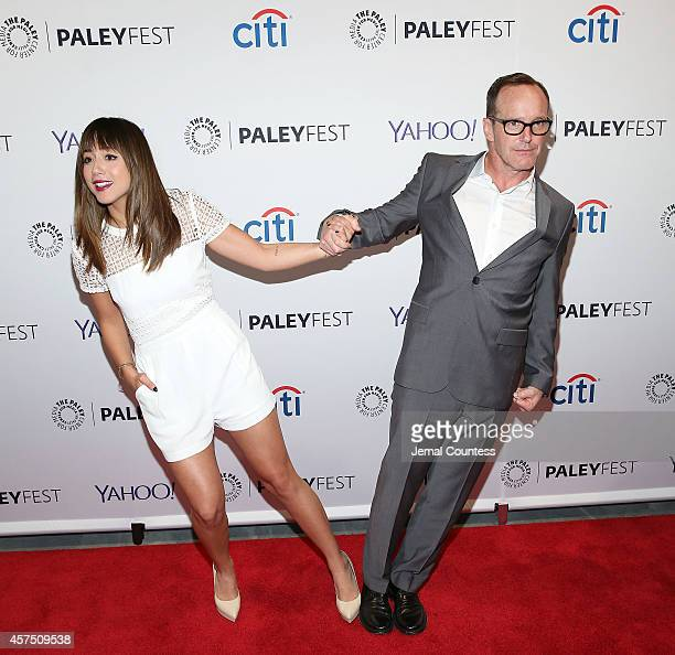 Actors Chloe Bennet and Clark Gregg attend the 'Marvel Agents Of SHIELD' premiere and panal discussion during the 2nd Annual Paleyfest New York at...