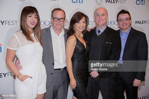 Actors Chloe Bennet Clark Gregg MingNa Wen Executive Producer Jeph Loeb and panal moderator EditoratLarge for TVLinecom Matt Mitovich attend the 2nd...