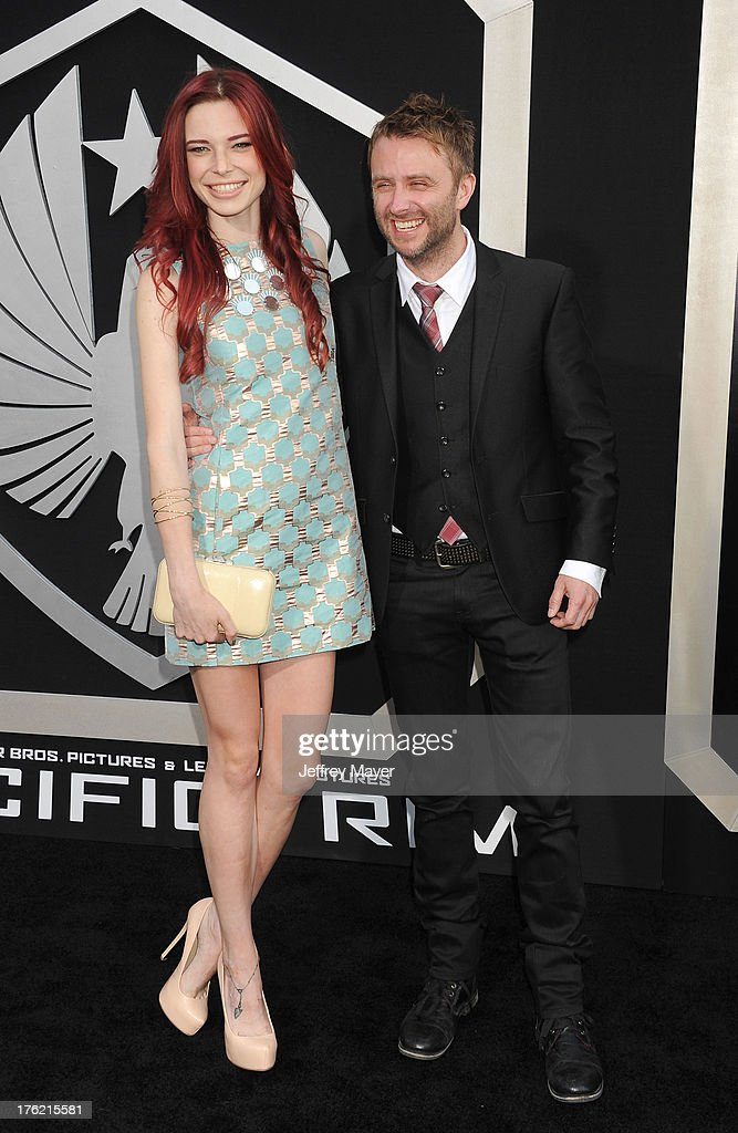 Actors Chloe Dykstra (L) and Chris Hardwick arrive at the 'Pacific Rim' - Los Angeles Premiere at Dolby Theatre on July 9, 2013 in Hollywood, California.