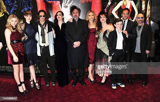 Actors Chloe Moretz Bella Heathcote Johnny Depp Eva Green director Tim Burton Michelle Pfeiffer Helena Bonham Carter Gulliver McGarth Jonny Lee...