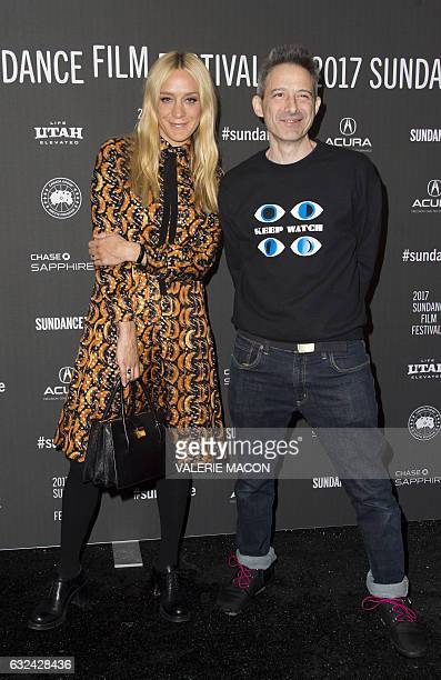 Actors Chloe Sevigny and Adam Horovitz attend 'Golden Exits' Premiere at Library Center Theatre during the 2017 Sundance Film Festival in Park City...