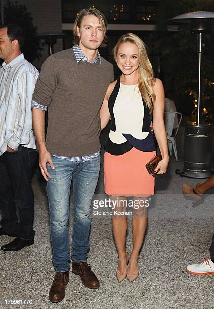 Actors Chord Overstreet and Becca Tobin attend Cosmopolitan's Summer Bash at Palihouse on August 10 2013 in West Hollywood California