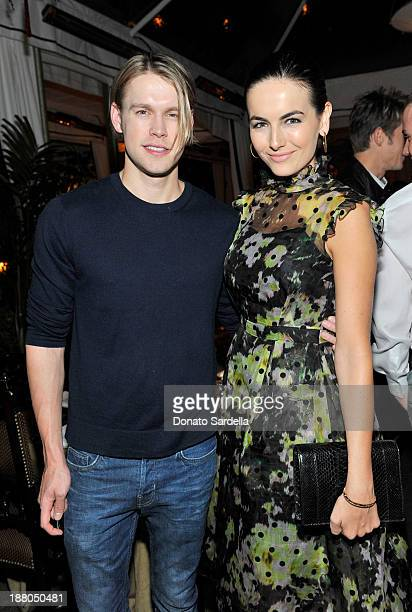 Actors Chord Overstreet and Camilla Belle attend a dinner in honor of Erdem hosted by Lisa Love and presented by NARS at Chateau Marmont on November...