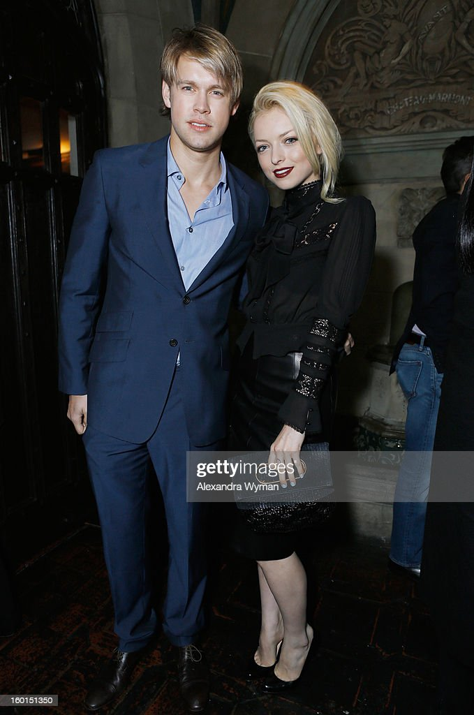 Actors <a gi-track='captionPersonalityLinkClicked' href=/galleries/search?phrase=Chord+Overstreet&family=editorial&specificpeople=7126148 ng-click='$event.stopPropagation()'>Chord Overstreet</a> and Francesca Eastwood attend the Entertainment Weekly Pre-SAG Party hosted by Essie and Audi held at Chateau Marmont on January 26, 2013 in Los Angeles, California.