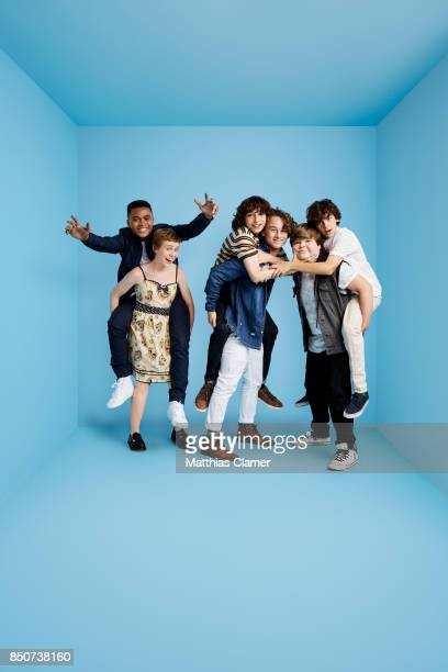 Actors Chosen Jacobs Sophia Lillis Finn Wolfhard Wyatt Oleff Jeremy Ray Taylor and Jack Dylan Grazer from IT are photographed for Entertainment...