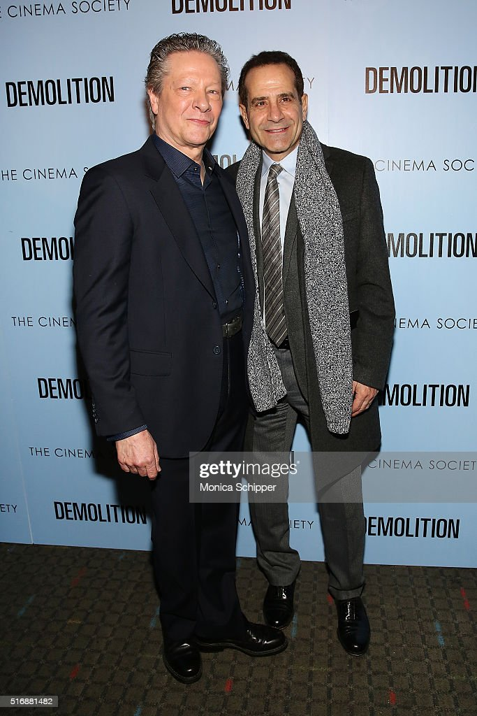 Actors Chris Cooper (L) and Tony Shalhoub attend Fox Searchlight Pictures with The Cinema Society Host A Screening of 'Demolition' at SVA Theatre on March 21, 2016 in New York City.