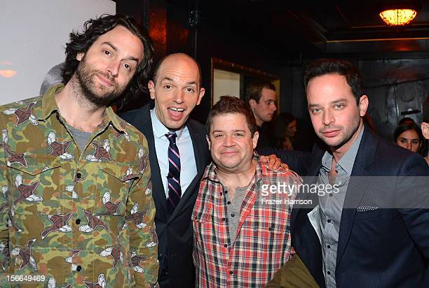 Actors Chris D'Ellia Paul Scheer Patton Oswalt and Nick Kroll attend Variety's 3rd annual Power of Comedy event presented by Bing benefiting the...