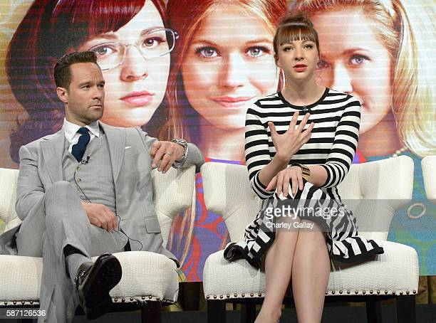 Actors Chris Diamantopoulos and Erin Darke attend the Amazon 2016 Summer TCA Press Tour at The Beverly Hilton Hotel on August 7 2016 in Beverly Hills...