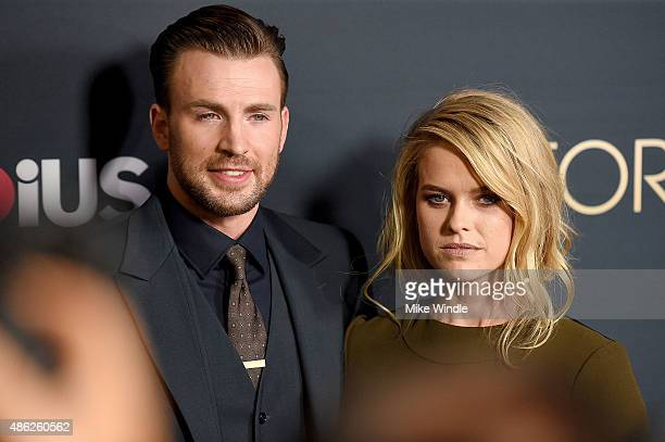 Actors Chris Evans and Alice Eve attend the premiere of Radius and G4 Productions' 'Before We Go' at ArcLight Cinemas on September 2 2015 in...