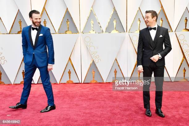 Actors Chris Evans and Jeremy Renner attend the 89th Annual Academy Awards at Hollywood Highland Center on February 26 2017 in Hollywood California