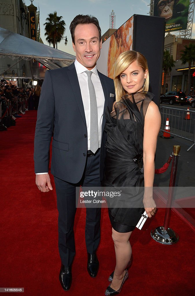Actors Chris Klein and Mena Suvari arrive at the 'American Reunion' Los Angeles Premiere March 19 2012 in Hollywood California