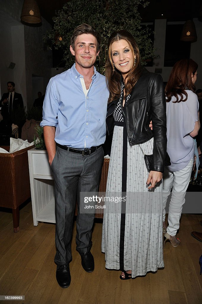 Actors <a gi-track='captionPersonalityLinkClicked' href=/galleries/search?phrase=Chris+Lowell&family=editorial&specificpeople=880311 ng-click='$event.stopPropagation()'>Chris Lowell</a> (L) and <a gi-track='captionPersonalityLinkClicked' href=/galleries/search?phrase=Kate+Walsh+-+Actress&family=editorial&specificpeople=4111564 ng-click='$event.stopPropagation()'>Kate Walsh</a> attend the Women In Film's 6th Annual Pre-Oscar Party hosted by Perrier Jouet, MAC Cosmetics and MaxMara at Fig & Olive on February 22, 2013 in Los Angeles, California.