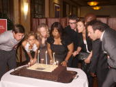 Actors Chris Lowell KaDee Strickland executive producers Betsy Beers Shonda Rhimes actors Tim Daly Kate Walsh Taye Diggs and Paul Adelstein attend...