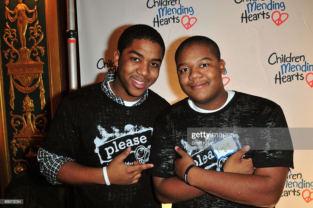 Actors Chris Massey and Kyle Massey attend the Children Mending Hearts 'Please Mr President' workshop at the Prince George Ballroom on November 15...