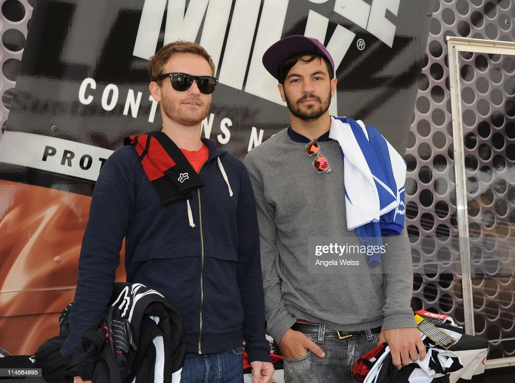 Actors Chris Masterson and Jordan Masterson attend Oakley's Learn To Ride Motocross event at Starwest MX Track on May 23, 2011 in Lake Perris, California.