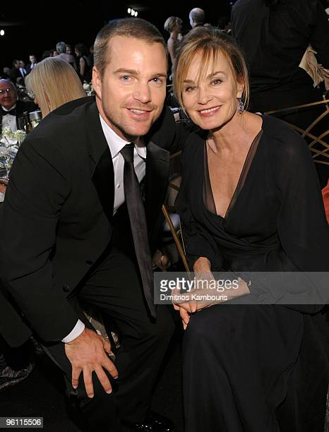 Actors Chris O'Donnell and Jessica Lange attend the TNT/TBS broadcast of the 16th Annual Screen Actors Guild Awards at the Shrine Auditorium on...